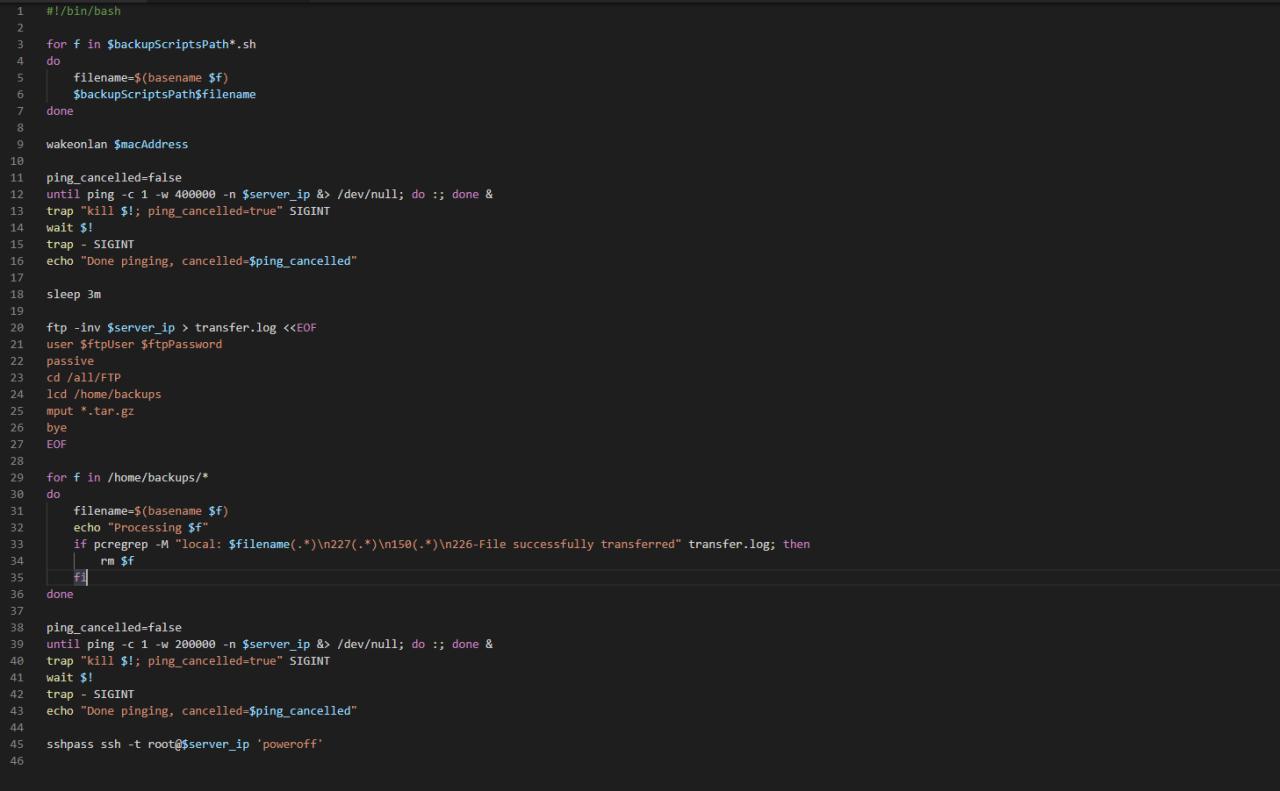 Programmcode auf dunklem Hintergrund